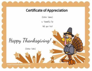 Thanksgiving Printables with regard to Thanksgiving Gift Certificate Template Free