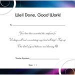 Thankyou For All Your Hard Work Certificate | Certificate Pertaining To Best Great Work Certificate Template