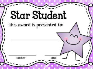 These Editable Star Student Awards Will Come In Handy! Type for Fresh Student Of The Week Certificate Templates