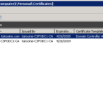 Think Big – With Powershell: Validate Domain Controller In Domain Controller Certificate Template