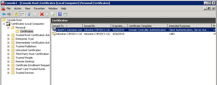 Think Big - With Powershell: Validate Domain Controller in Domain Controller Certificate Template