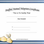 This Free, Printable, Stuffed Animal Adoption Certificate Is Inside Toy Adoption Certificate Template
