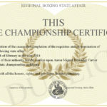 This State Championship Certificate Throughout Unique Certificate Of Championship