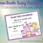 Tooth Fairy Certificate Intended For Unique Free Tooth Fairy Certificate Template
