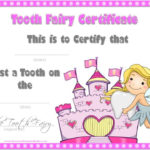 Tooth Fairy Certificate With Regard To Unique Free Tooth Fairy Certificate Template