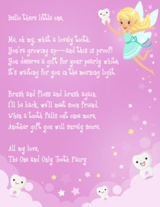 Tooth Fairy Letter Template Free Printable – Toofasr with regard to Tooth Fairy Certificate Template Free
