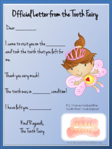 Tooth Fairy Letter | Tooth Fairy Letter Template, Tooth intended for Unique Free Tooth Fairy Certificate Template