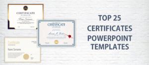 Top 25 Certificates Powerpoint Templates Usedinstitutes For Best Award Certificate Template Powerpoint