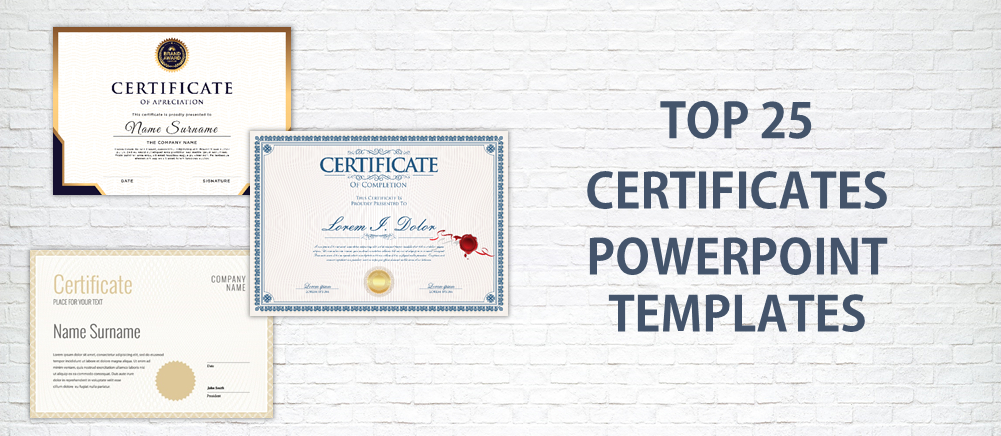 Top 25 Certificates Powerpoint Templates Usedinstitutes within Powerpoint Award Certificate Template