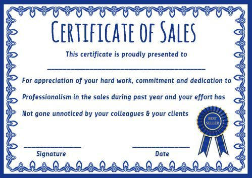 Top Seller Certificate Templates: 10 Free Amazing with regard to Best Sales Certificate Template