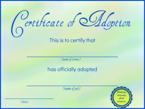 Toy Adoption Certificate Template (1) – Templates Example for New Toy Adoption Certificate Template