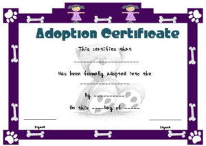 Toy Adoption Certificate Template : 13+ Free Word Templates inside Toy Adoption Certificate Template