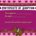 Toy Adoption Certificate Template : 13+ Free Word Templates Throughout New Toy Adoption Certificate Template