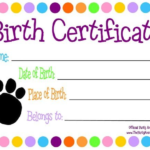 Toy Adoption Certificate Template (3) – Templates Example In Toy Adoption Certificate Template