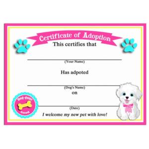 Toy Adoption Certificate Template 9 Di 2020 (Dengan Gambar) Inside Cat Adoption Certificate Template 9 Designs