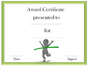 Track And Field Award Certificate Templates | Award intended for Track And Field Certificate Templates Free