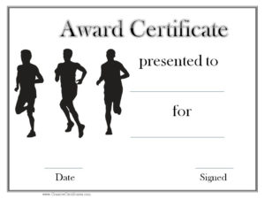 Track And Field Award Certificate Templates | Certificate pertaining to Quality Track And Field Certificate Templates Free