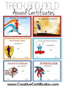 Track And Field Certificate Templates Free & Customizable throughout Track And Field Certificate Templates Free