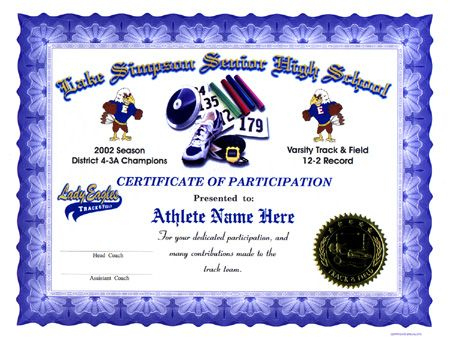 Track And Field Certificate Templates Free In 2020 inside Quality Track And Field Certificate Templates Free