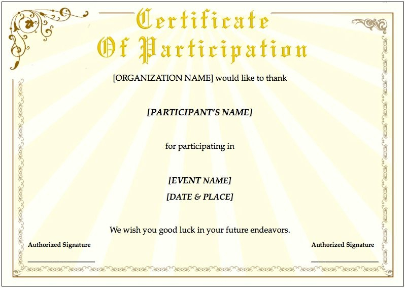 Training Certificate Template For Pages | Free Iwork Templates regarding Unique Certificate Template For Pages