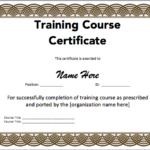 Training Certificate Template Microsoft Word Templates Free Regarding Fresh Certificate Of Participation Word Template