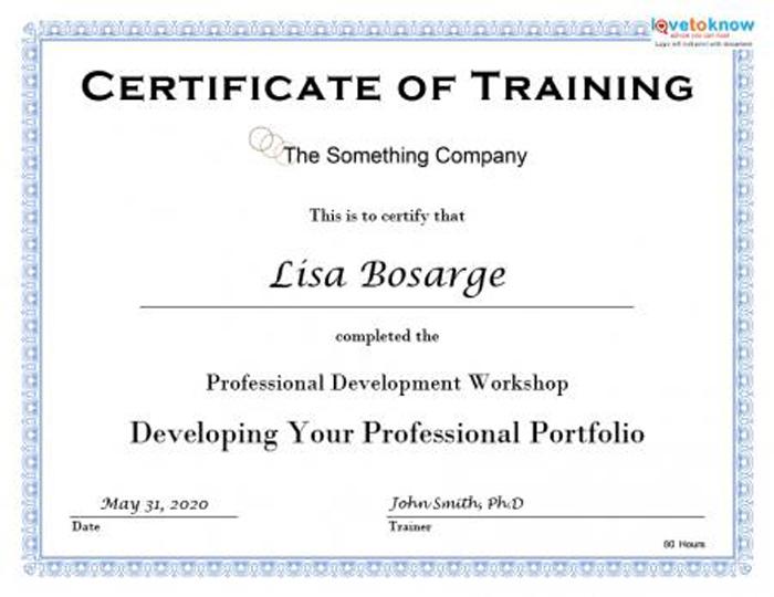 Training Certificate Template Word Format 7 - Best Templates Regarding Physical Fitness Certificate Template 7 Ideas