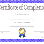 Training Completion Certificate Template 4 | Certificate Inside New Training Completion Certificate Template 10 Ideas