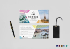 Travel Gift Certificate Template | Certificate Templates with regard to Gift Certificate Template Indesign