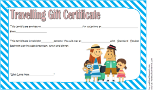 Travel Gift Certificate Template Free 1 | Gift Certificate with Fresh Travel Gift Certificate Editable
