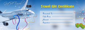 Travel Gift Voucher Certificate Template | Free Gift inside Free Travel Gift Certificate Template