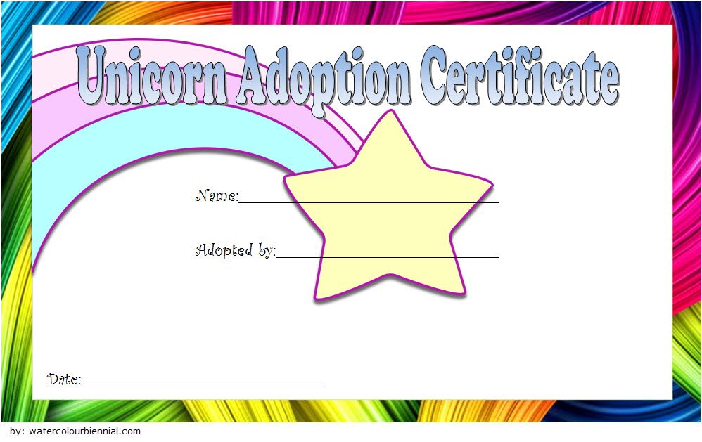Unicorn Adoption Certificate Free Printable (Fantasy Design regarding Best Unicorn Adoption Certificate Free Printable 7 Ideas