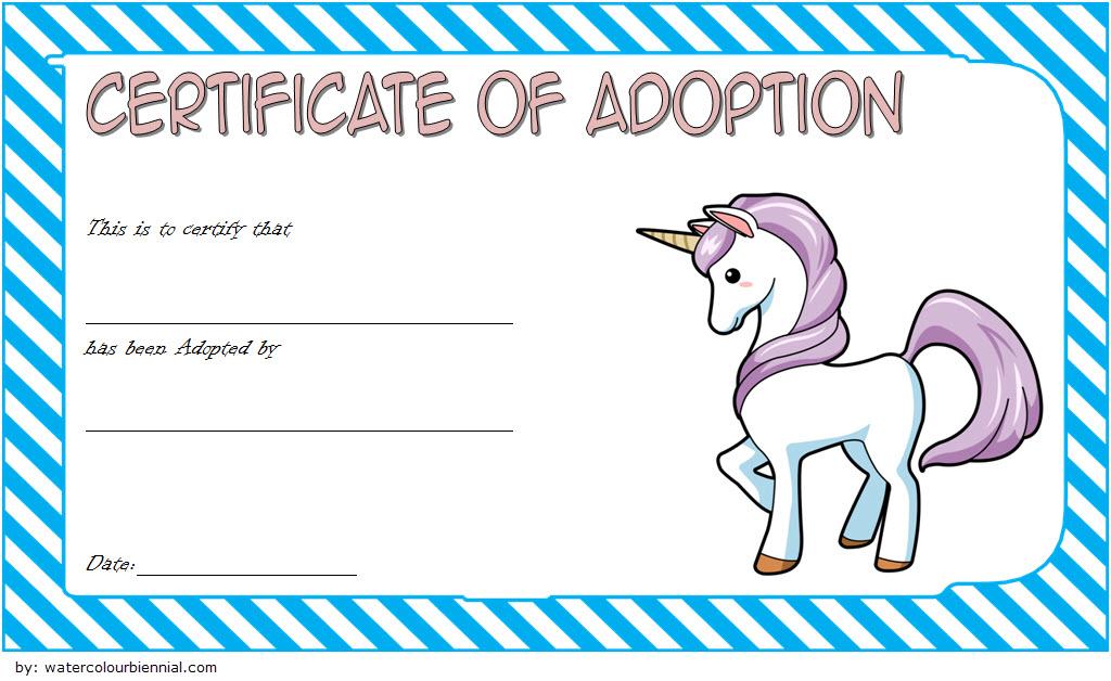 Unicorn Adoption Certificate Free Printable (Fantasy Design with regard to Unicorn Adoption Certificate Templates