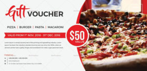 Unique Gift Voucher Template | Gift Certificate Template in Pizza Gift Certificate Template
