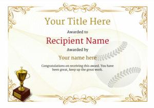 Use Free Baseball Certificate Templates -Awardbox for Baseball Achievement Certificate Templates