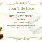 Use Free Baseball Certificate Templates  Awardbox In Baseball Achievement Certificates