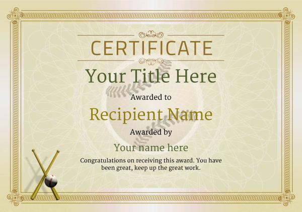 Use Free Baseball Certificate Templates -Awardbox inside Baseball Award Certificate Template
