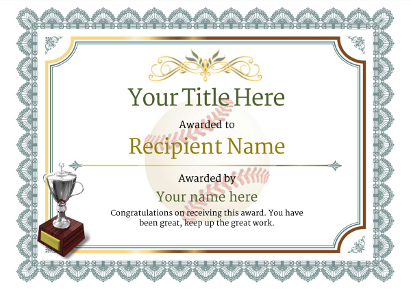 Use Free Baseball Certificate Templates -Awardbox pertaining to Best Baseball Achievement Certificates