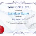 Use Free Baseball Certificate Templates  Awardbox Regarding Baseball Achievement Certificates