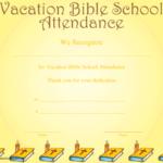 Vacation Bible School Attendance Certificate Printable In Vbs Attendance Certificate Template