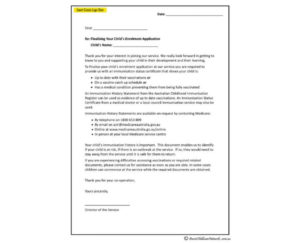 Vaccination Letter – Aussie Childcare Network inside Certificate Of Vaccination Template