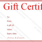 Valentine Gift Certificate Template Free Red Rose Gift Throughout Valentine Gift Certificate Template