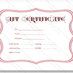 Valentines Day Printable Download Doc Editable Pink Frame With Best Valentine Gift Certificates Free 7 Designs