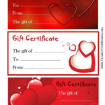 Valentine'S Gift Certificates   Gift Certificate Template For Valentine Gift Certificate Template