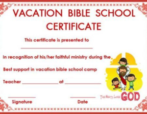 Vbs Certificate Template (4) – Templates Example | Templates in Lifeway Vbs Certificate Template