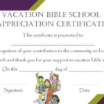 Vbs Certificate Templates | Vacation Bible School, School Within Vbs Attendance Certificate Template
