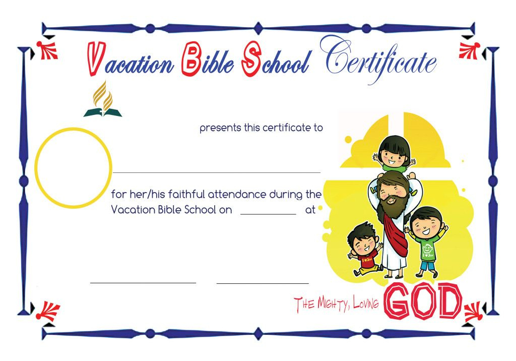 Vbs Sample Certificates | School Certificates, Vacation within Free Vbs Certificate Templates