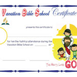 Vbs Sample Certificates | School Certificates, Vacation Within Vbs Attendance Certificate Template
