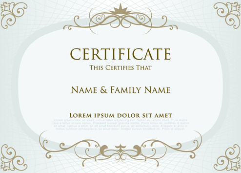 Vector Elegant Certificate Template Free Vector Download throughout Unique Elegant Certificate Templates Free