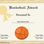Vector Printable Basketball Award Certificate Template Pertaining To Best 7 Basketball Achievement Certificate Editable Templates