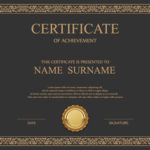 Vintage Frame Certificate Template Vectors 02 Free Download For Commemorative Certificate Template